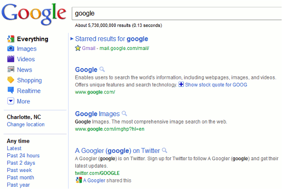 Google SERP Google Testing a New and Cleaner Search Engine Results Page
